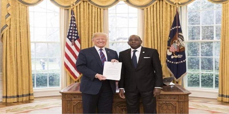 Photo de Côte d'Ivoire: Le nouvel ambassadeur aux Etats-Unis reçu par Donald Trump
