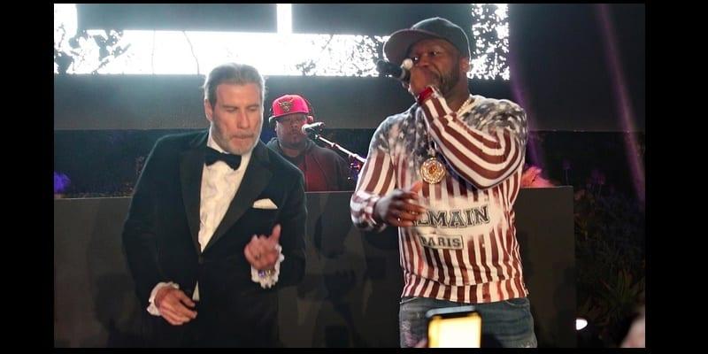 Photo de Musique : John Travolta retrouve 50 cent sur scène en plein concert (vidéo)