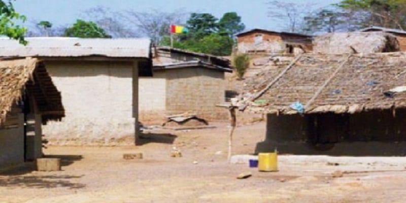 Photo de Frontière ivoiro-guinéenne: Le drapeau guinéen flotte dans un village ivoirien