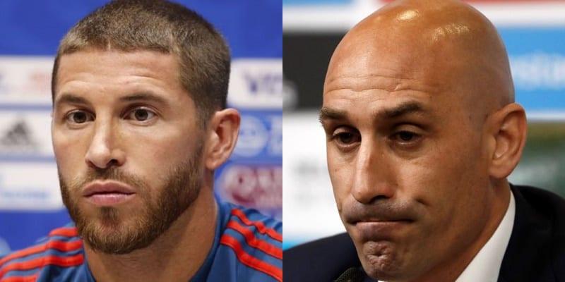 Photo de Football: Grosse altercation entre Ramos et le président de la fédération