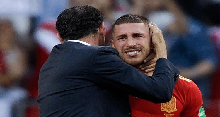 Photo de Mondial 2018: Sergio Ramos réagit après l'élimination de l'Espagne
