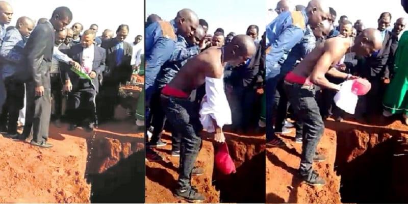 Photo de Afrique du Sud: un homme enterré avec de la bière, de l'argent, et des téléphones portables (PHOTOS)