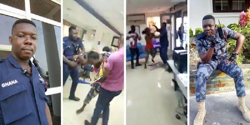 Photo de Ghana: Un policier tabasse une femme portant un bébé dans une banque (VIDÉO)