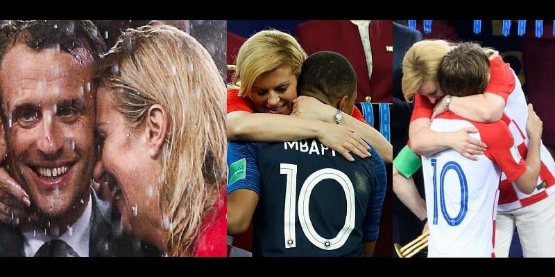 Photo de Mondial 2018: Les câlins de la présidente Croate jugés excessifs lors de la finale
