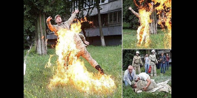 Photo de Ukraine: Limogé, un soldat tente de s'immoler par le feu (vidéo)
