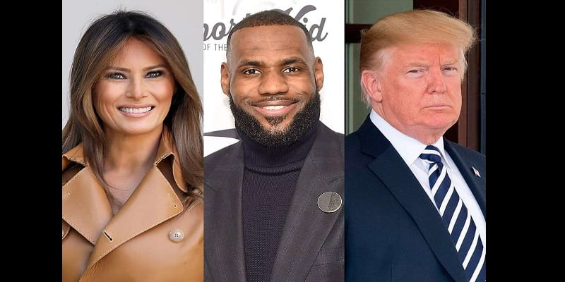 Photo de États-Unis : Melania Trump contredit son mari et soutient LeBron James