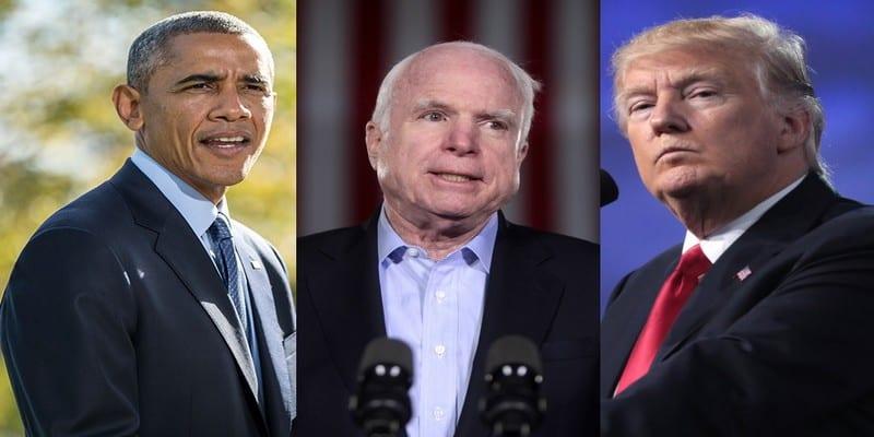 Photo de USA: Le sénateur John McCain est décédé. Trump et Obama lui rendent hommage