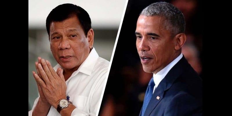 Photo de «Fils de p*te»: Après ses injures, le président philippin envoie un message à Barack Obama