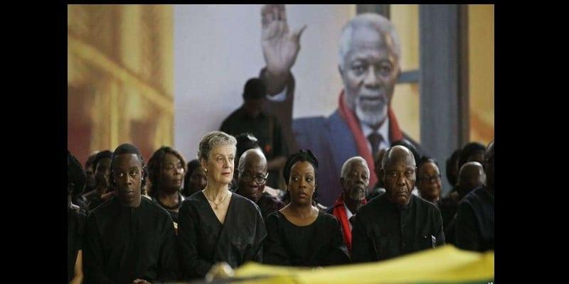 Photo de Funérailles de Kofi Annan: Les émouvants hommages de sa femme et sa fille