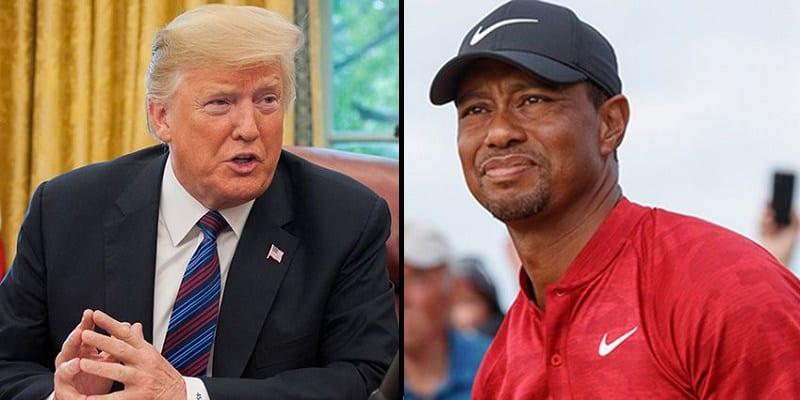 Photo de USA: Donald Trump prend la défense de Tiger Woods