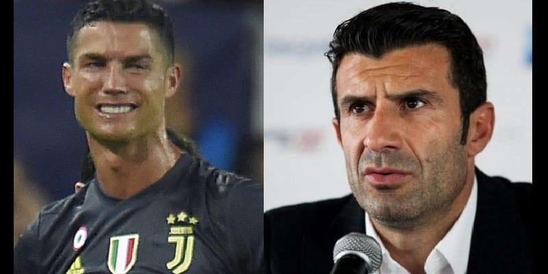 Photo de LDC: La réaction de Luis Figo suite à l'expulsion de Cristiano Ronaldo