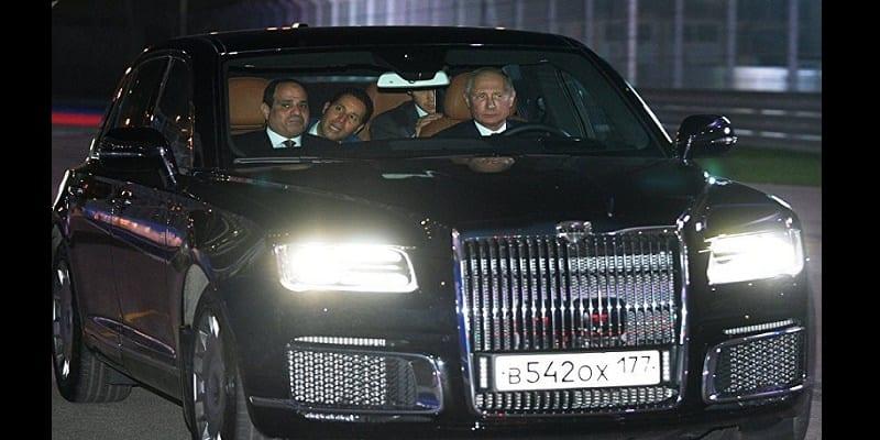 Photo de Russie: Une limousine haut de gamme testée par Poutine et Abdel Fattah-al-Sissi (photo)