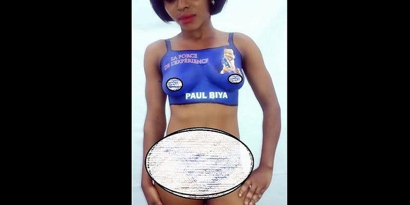 Photo de Cameroun: une femme complètement nue pour la campagne de Paul Biya