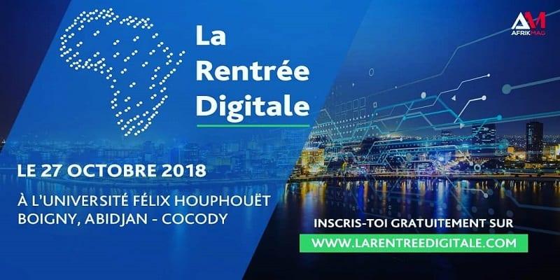 Photo de Numérique: La Rentrée Digitale aura lieu le 27 Octobre Prochain à Abidjan