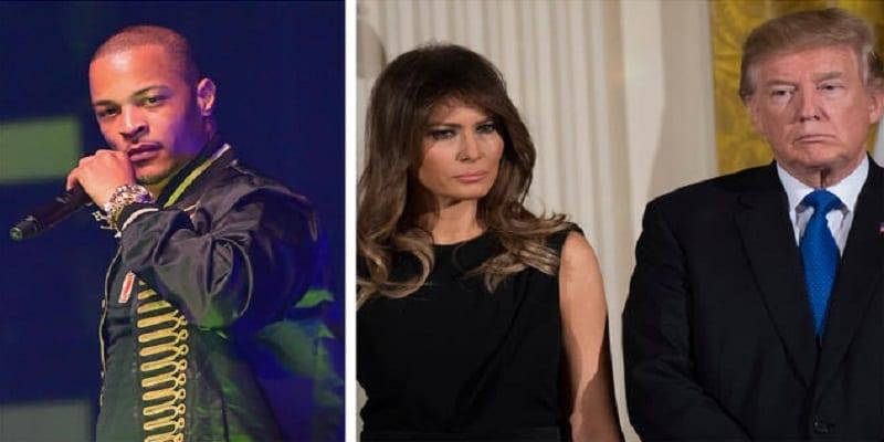 Photo de Melania Trump transformée en strip-teaseuse par le rappeur T.I : VIDÉO
