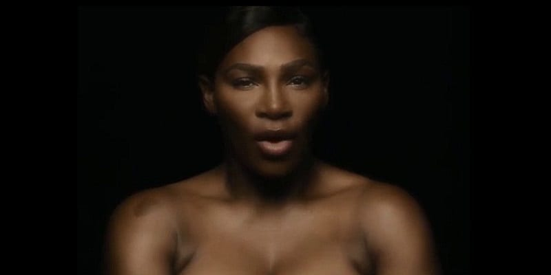 Photo de Serena Williams pose seins nus pour sensibiliser contre le cancer-VIDEO