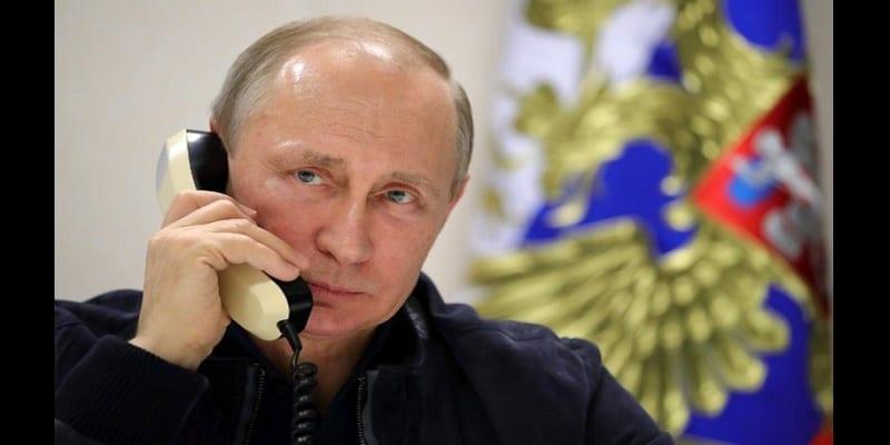 """Résultat de recherche d'images pour """"poutine a une conversation téléphonique avec le premier ministre  italien"""""""