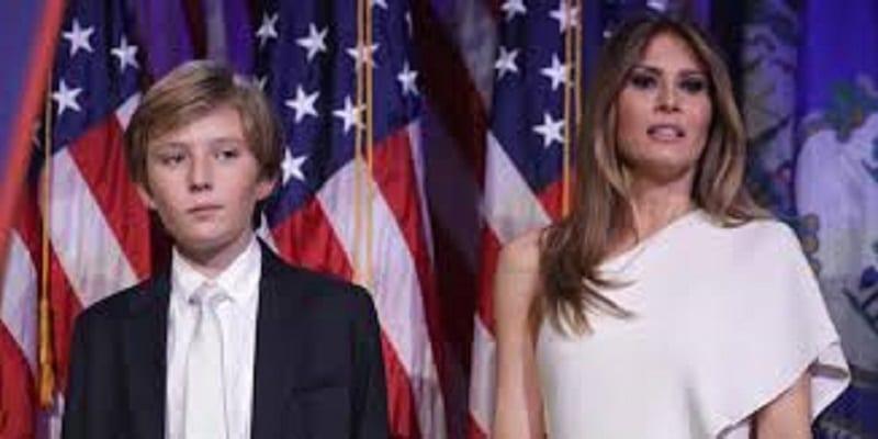 Photo de Etats Unis: Melania Trump fait des confidences sur son fils Barron