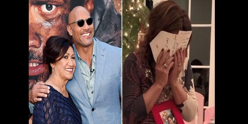 Photo de Dwayne Johnson offre un incroyable cadeau de Noël à sa mère (Vidéo)
