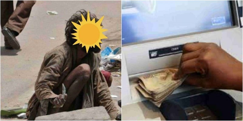Photo de Nigeria: une homme devient fou en retirant de l'argent dans un guichet automatique