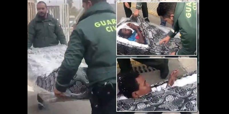Photo de Immigration: deux Africains découverts cachés dans des matelas (vidéo)