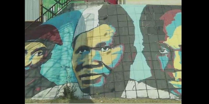 Photo de Guinée : Polémique autour du graffiti de l'ex-président Sékou Touré. l'auteur du graffiti réagit!