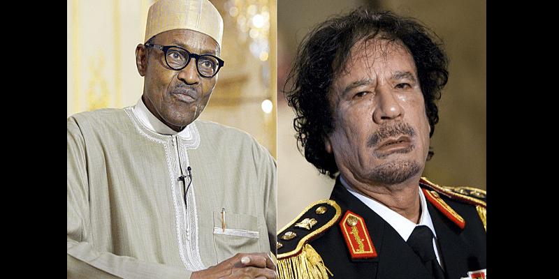 Photo de Insécurité au Nigeria: Le président Buhari accuse Mouammar Kadhafi
