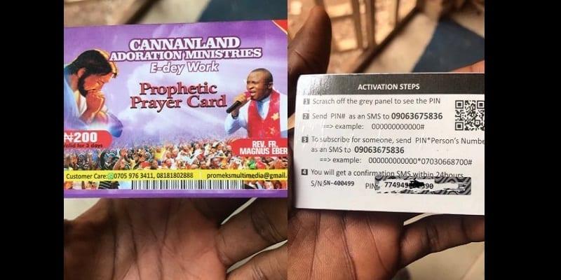 Photo de Nigeria: Des cartes de souscription pour la prière prophétique désormais en vente (photos)