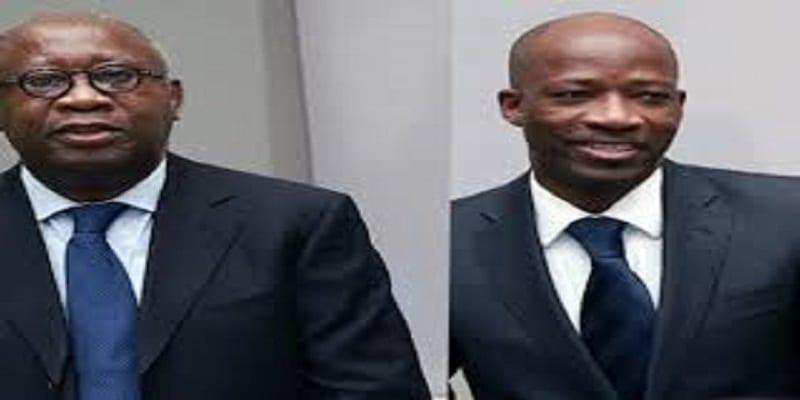 Photo de Laurent Gbagbo et Charles Blé Goudé acquittés devant la CPI!