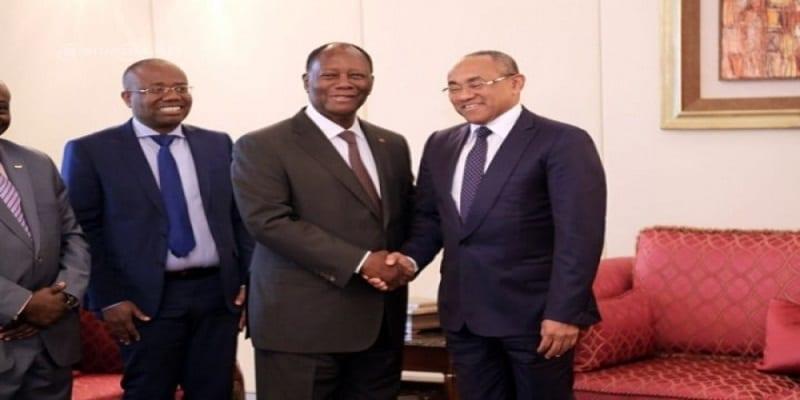 Photo de CAF: Bonne nouvelle pour la Côte d'Ivoire à l'issue de la rencontre entre Ouattara et Ahmad Ahmad