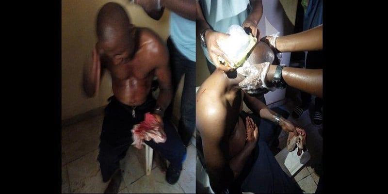 Photo de Nigeria : Un arbitre battu sans pitié après un match (photos)