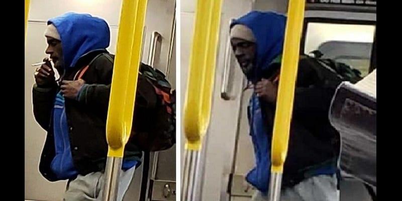 Photo de USA : Un homme s'allonge et se masturbe sur le siège d'un train-Photo