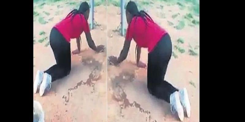 Photo de Elle force la maîtresse de son mari à nettoyer la maison après les avoir surpris