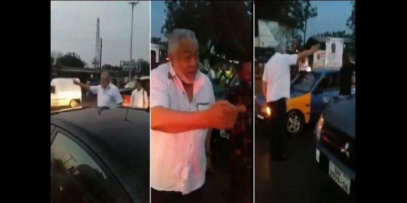Photo de Ghana : Bloqué dans l'embouteillage, la réaction de l'ex président Jerry Rawlings vous surprendra (vidéo)