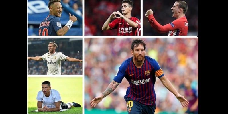 Photo de Découvrez le top 10 des footballeurs les mieux payés en 2019