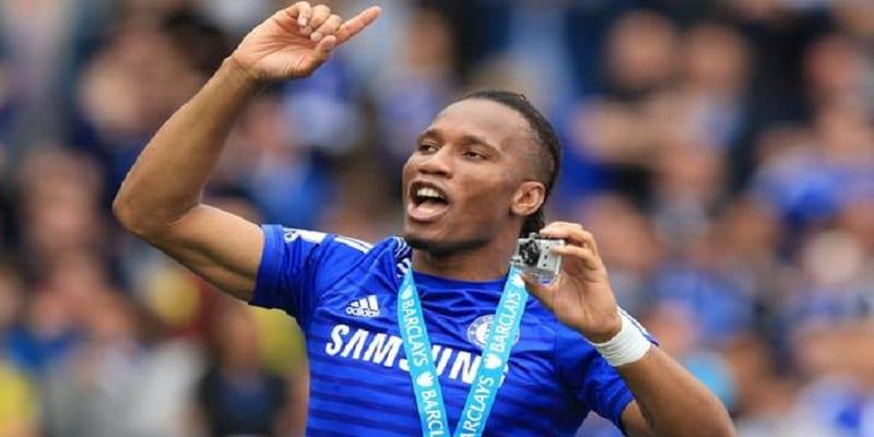 Photo de Didier Drogba, meilleur joueur Africain de la Premier league