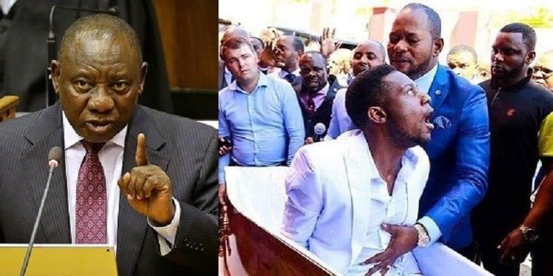 Photo de Afrique du Sud : Le président Cyril Ramaphosa met en garde les pasteurs