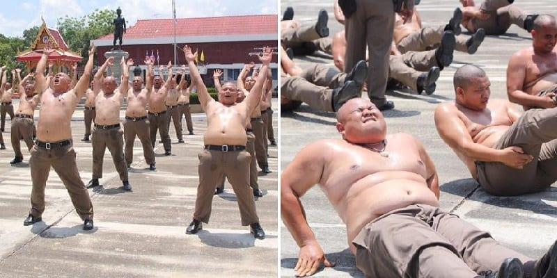 Photo de Thaïlande: les policiers en surpoids envoyés dans un camp d'entraînement pour perdre du poids
