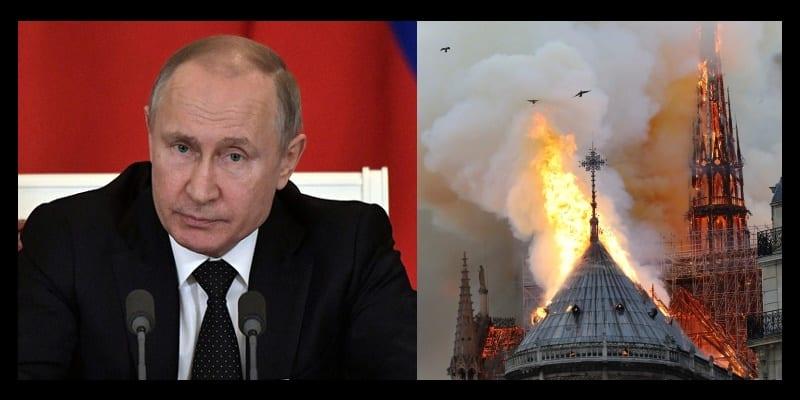 Photo de Incendie à la cathédrale notre Dame de Paris: Le message de Vladimir Poutine