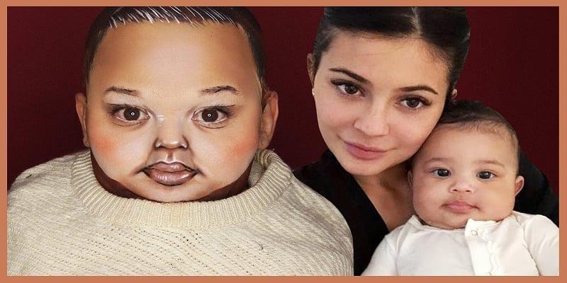 """Photo de Une star du maquillage se transforme en """"bébé de Kylie Jenner"""": vidéo"""