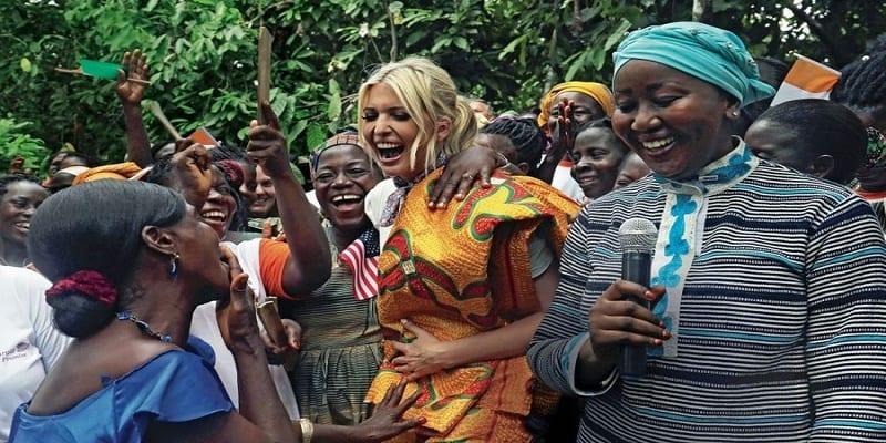Photo de Ivanka Trump très marquée par l'hospitalité africaine pendant sa visite