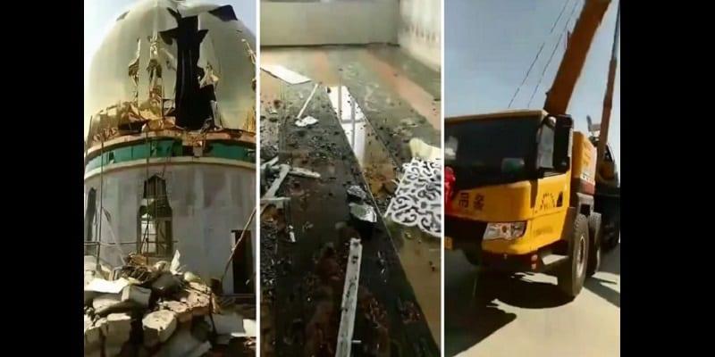 Photo de Chine : Une mosquée partiellement détruite lors d'une campagne contre la minorité musulmane (vidéo)
