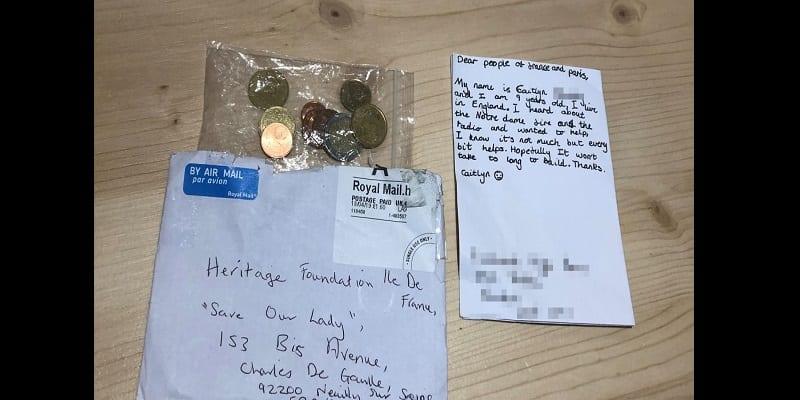 Photo de Reconstruction de Notre-Dame de Paris : Une Britannique de 9 ans fait un don de 3 euros