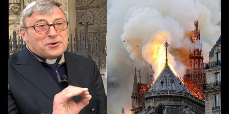 """Photo de Le recteur de """"Notre-Dame de Paris"""" révèle une nouvelle cause à l'origine de l'incendie"""