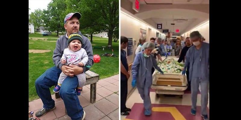 Photo de Les parents d'une petite fille mourante font un geste qui émeut la toile (photos)