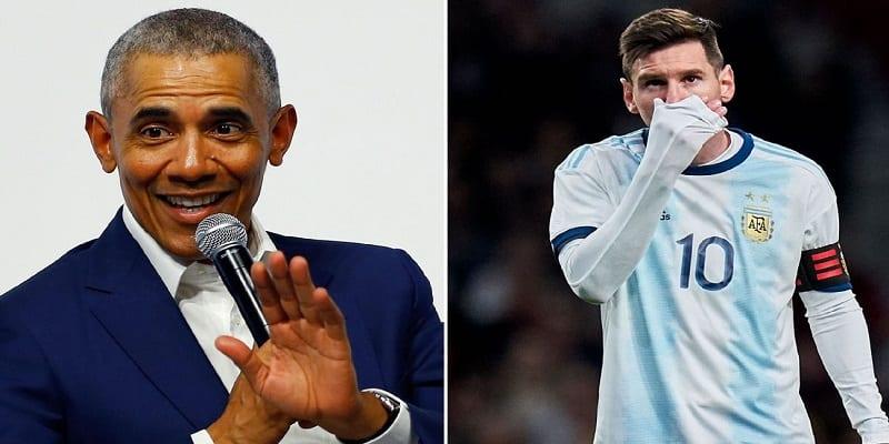 Photo de Barack Obama explique pourquoi l'Argentine ne gagne pas avec Lionel Messi