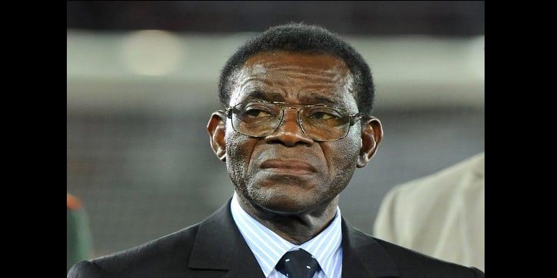 Photo de Guinée équatoriale : Le président Teodoro Obiang Nguema en deuil