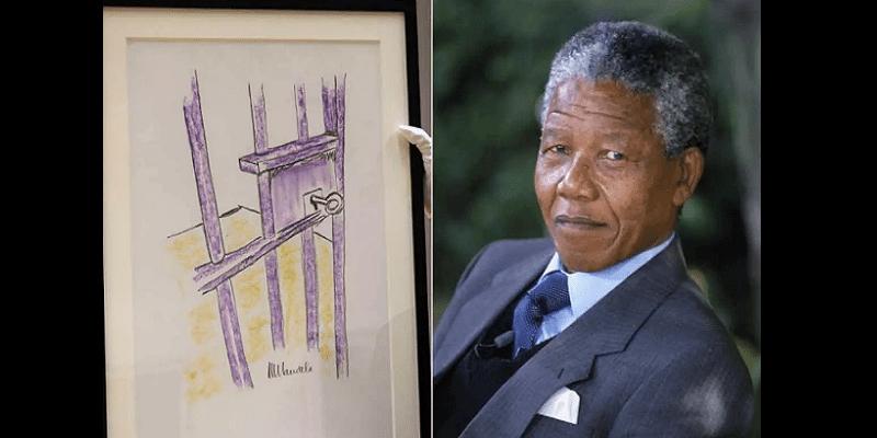Photo de Un tableau de Nelson Mandela vendu à 112 575 dollars