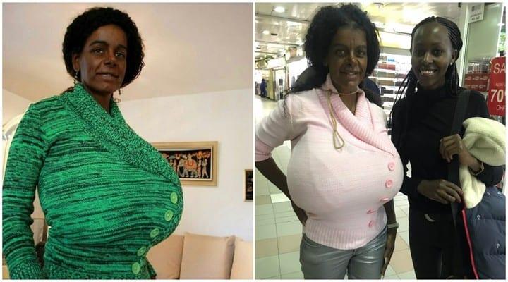 """Photo de Une Allemande dévoile son secret pour avoir les """"plus gros seins"""" du monde (photos)"""