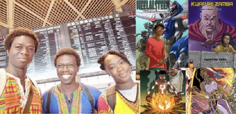 """Photo de Japon: 3 ivoiriens lancent """"AMADIORA""""une plateforme de bandes dessinées africaines"""